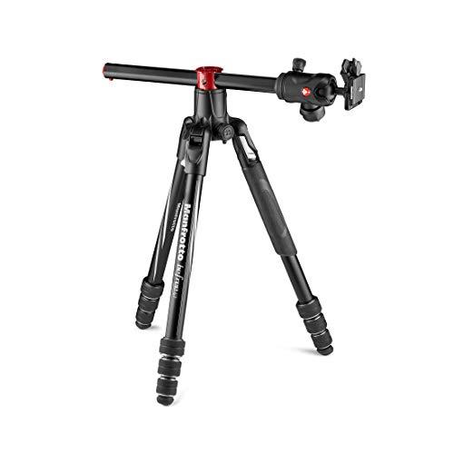 Manfrotto Befree GT XPRO Aluminium: Stativ mit Kugelkopf 496, M-Lock-System, 90-Grad-Säule, 200PL-PRO-Platte, für DSLR- oder CSC-Kamera mit langem Objektiv, Makrofotografie, Aluminium, MKBFRA4GTXP-BH