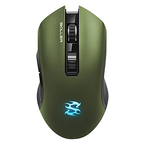 Sharkoon SKILLER SGM3 grün, optische Gaming Maus, Dual Mode (Funk oder Kabelgebunden), RGB