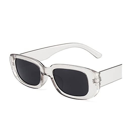 SFQRYP Gafas de sol rectangulares para mujer, estilo vintage, cuadradas, gafas de sol para mujer, UV400 (color del marco: multicolor, color de las lentes: 12)