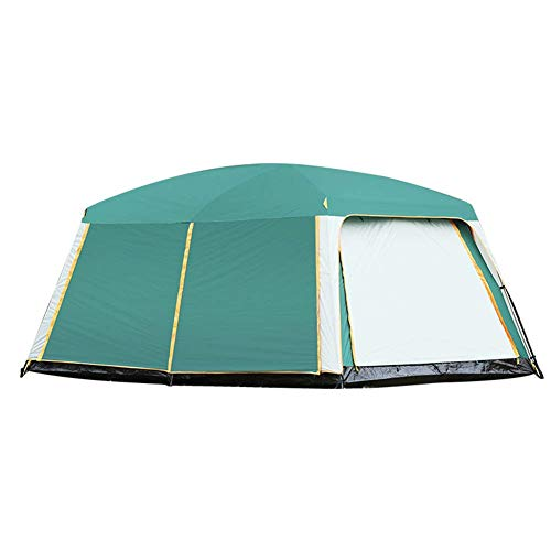 JDK Large Camping Tent, 8-12-Person Family Tent with Separate Living and Sleeping Area, Easy to Pitch Dome Shelter, Waterproof HH 2200 mm with Carrying Case for Hiking Outdoor Travel