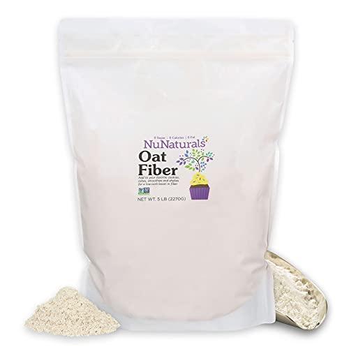 NuNaturals All Natural Oat Fiber, Non-GMO Certified, 5 lbs