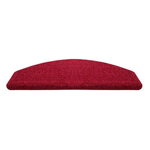 Tapis Marchepieds de lavables, d'escalier intérieur Monobloc de Couleur Unie, Escalier Auto-adhésif en, Ensemble en Option, Rouge (Couleur : Set of 13, Taille : 100×24+3cm)