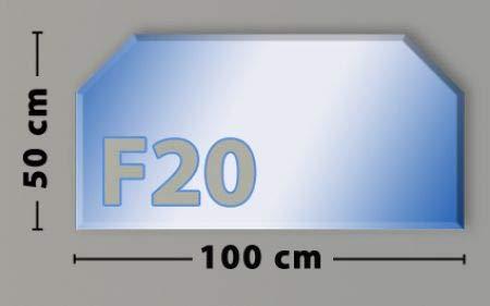 Sechseck F20 Funkenschutzplatte - Glasplatte aus Sicherheitsglas