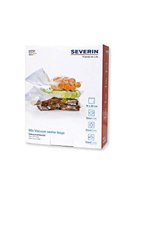 SEVERIN ZB 3613 Vakuumierbeutel, Für Folienschweißgeräte und Vakuumierer, 16x25 cm, 50 + 5 Stück