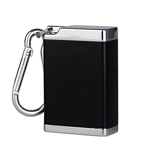 Cenicero portátil MoreChioce Mini con llavero, creativo, resistente al viento, cenicero de bolsillo, para viajes, oficina, negro
