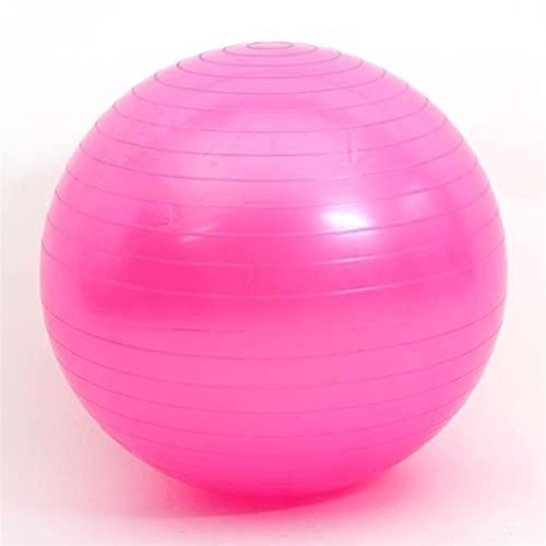 JSBAN Deportes Pelotas de Yoga Fitness Ball Gimnasio Ejercicio Ejercicio Durable Explosión A Prueba de Entrenamiento Bola de Masaje (Color : Pink)