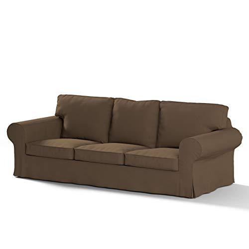 Dekoria Rivestimento per divano Ektorp a 3 posti non apribile Rivestimento per divano, copridivano, fodere, adatto al modello Ikea Ektorp, moca
