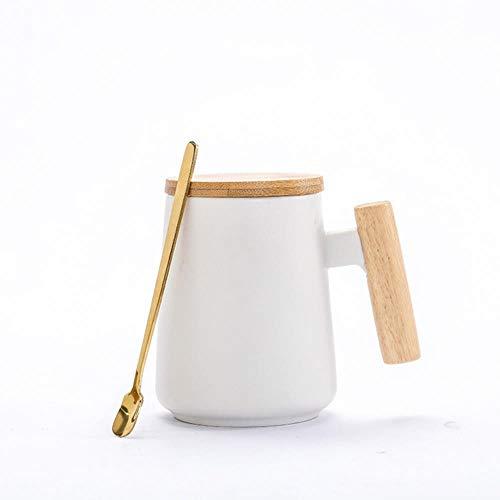 HOPI Grote capaciteit mok met lepeldeksel, melk sap citroensap kopje koffie thee kopje thuis kantoor drank