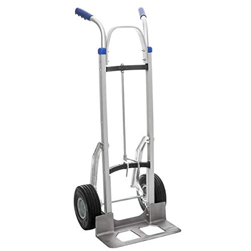 Aluminium Keg Sack Truck with Puncture Proof Wheels by Ross Castors - 300kg Capacity