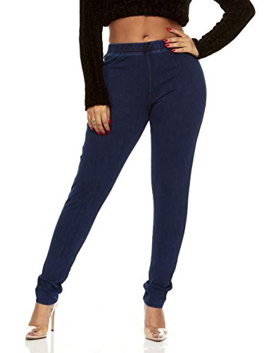 YDX Smart Jeans Jeggings Stretch Super Comfy Pants That Look Like Jeans Pull On Dark Denim Size Medium