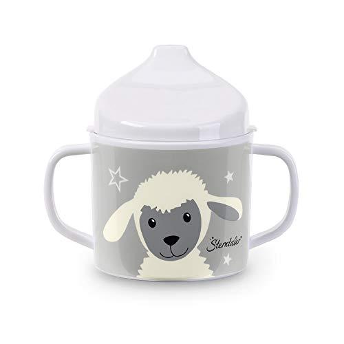 Sterntaler Tasse Bébé Mouton Stanley, Âge : Pour Bébés de 6 Mois et plus, Blanc/Gris