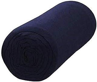 Drap Housse 100% Coton (Bleu Marine, 140x190 cm) Grand Bonnet 30 cm 57 Fils