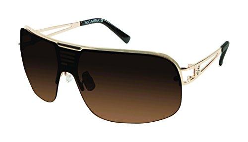 Rocawear Herren R1416 Gldbk Sonnenbrille, Goldfarben/Schwarz