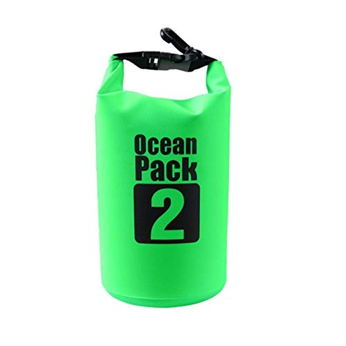 Sac étanche étanche en Plein air Plage PVC Boucle Sac de Rangement Flottant Voyage canotage Sac de Rangement Sac de Rafting, 2L