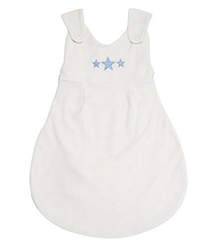 Sense Organics Unisex Baby Schlafsack SABA SP Stars-2 in 1, Mehrfarbig (ecowhite & AOP Blue Star 180050) 74 (Herstellergröße: 6M)