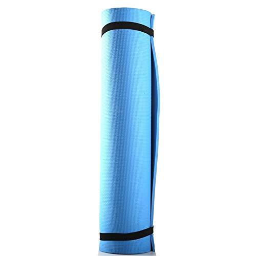Alfombrilla de Yoga Antideslizante Gruesa Antideslizante Yoga Mat Interior del Entrenamiento de Ejercicio físico Gimnasia for Principiantes Aptitud colchonetas for Gimnasia (Color : Blue)