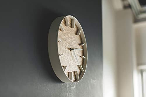 山崎実業(Yamazaki)掛け時計ナチュラル約W26.5XD26.5XH4.2cmRIN4109