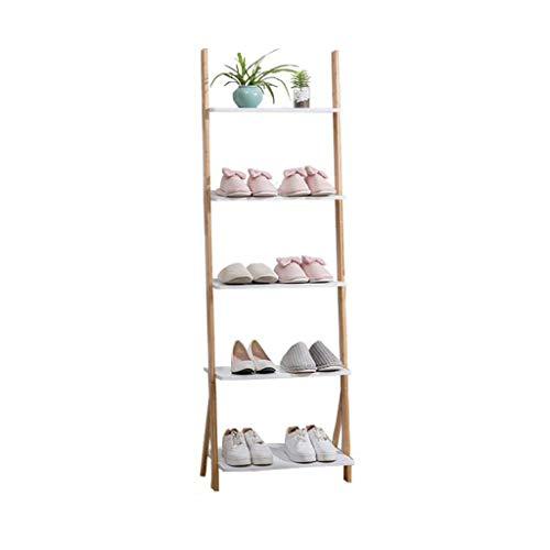 ZZYE Zapatero Zapato de bambú Ajustable Rack confiable 5 Nivel Escalera Estante de pie Soporte Soporte de la Sala de Estar Soporte de Flores versátiles Perchero Zapatero (Size : 70cm)