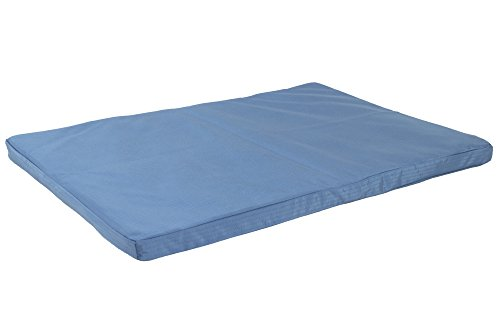 K9 Ballistics Tough Orthopedic Dog Crate Pad - Washable, Durable and Waterproof Dog Crate Bed - Large Orthopedic Dog Bed, 47'x28', Blue