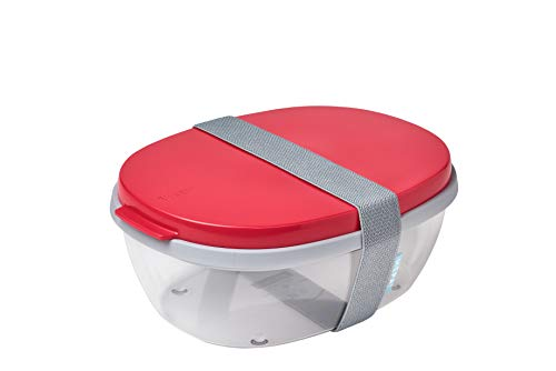 Mepal Salatbox Ellipse, abs, Nordic Red, One Size
