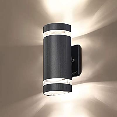 LED Semi Cylinder Up and Down Lights Outdoor Wall Light,Body in Aluminum Waterproof Outdoor Wall Lamps,3000k 5W with Certificate ETL 1 Pack