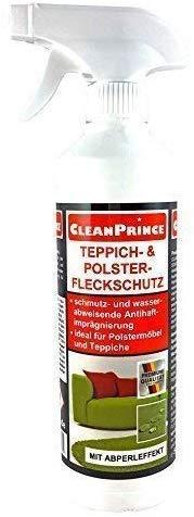 CleanPrince FLECKSCHUTZ 500 ml 0,5 Liter Teppich- und Polster Fleckschutz Teppichimprägnierung Polsterimprägnierung Imprägniermittel Stuhlauflagen Stoff Polyester Polyamid Polyacryl Viskose Baumwolle