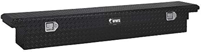UWS EC10552 69-Inch Gloss Black Heavy-Wall Aluminum Slim Truck Tool Box with Low Profile, RigidCore Lid