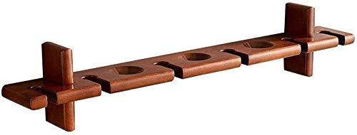 ZYL-YL Portabotellas y copas de vino montadas en el soporte de madera de pared, estante de almacenamiento de tazas, estante de decoración de pared, 81 cm, carga máxima de 15 kg