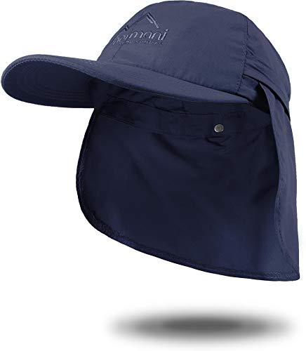 normani Sommer Cap 'Savannah' mit einrollbarem Nackenschutz Farbe Marine Größe M