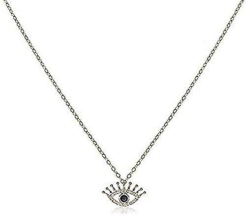 BEISUOSIBYW Co.,Ltd Collar Elegante Collar señoras Ojo Grande Mujer Plata nacklace joyería clavícula Colgante Colgante para Mujeres Hombres Regalos Regalo