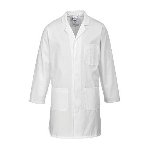 Portwest Hygiene & Warehouse Coat Multiple-pockets Vented Large White Ref 2852LGE Wht