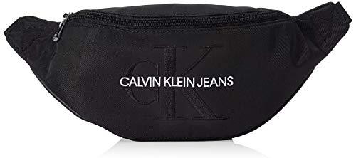 Calvin Klein Herren Ckj Monogram Nylon Street Pack Schultertasche, Schwarz (Black), 0.1x0.1x0.1 centimeters