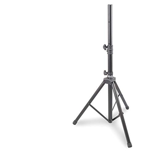 "Universal Speaker Stand Mount Holder - Heavy Duty Rubber Capped Tripod w/Adjustable Height from 59.1"" to 82.7"" Locking Safety PIN & 35mm Compatible Insert On-Stage or In-Studio Use - Pyle PSTND1"