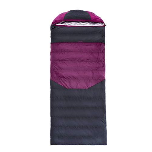 GaHpp Sacco a Pelo Invernale Imbottitura in Piuma D'Oca da 1000g,Ottimo per l'escursionismo, i Viaggi, l'outdoor,Purple,1000g