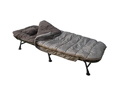 """MK-Angelsport Schlafsack fürs Angeln extra breit Temperatur Karpfenliegen - Außenschlafsack mit """"Wärme-Stop-System"""" bis zu -5° - mit Tragetasche Packsack Camping Festival wasserabweisend"""