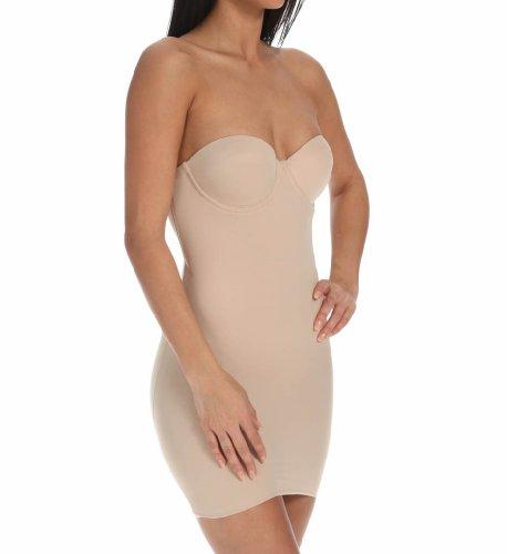TC Fine Intimates Women's Strapless Solutions Bra Slip 4032 34B Cupid Nude