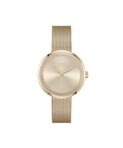 Hugo BOSS Dames Analoog Quartz Horloge met RVS Band 1502548