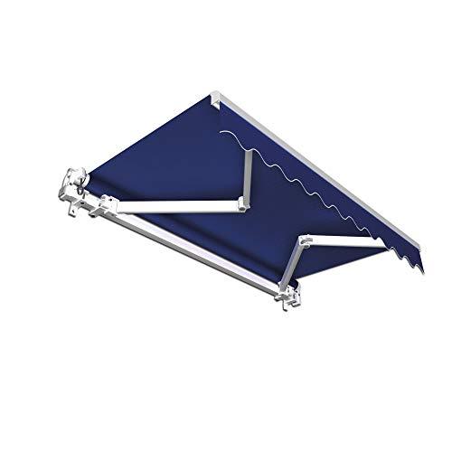jarolift Gelenkarmmarkise Basic Balkonmarkise Sichtschutz für Terrasse, 400 x 300 cm (Breite x Ausfall), Anthrazit Uni
