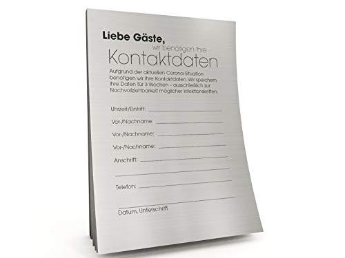 Kontaktdaten-Zettel für Gastronomie in moderner Optik (1000)