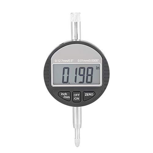 Dial Indicator, DTI Digital Probe Indicator Inch/Metric Conversion 0-12.7mm/0.5inch Dial Test Gauge Clock 0.01mm/0.0005inch
