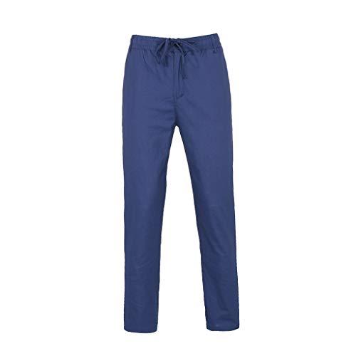 Slim fit Chinohose Casual Herren Chino Hose -Stoffhose aus 55% Leinen & 45% Baumwolle Lange Regular Fit Hose Moderne Baumwollhose Leinenhose Bequeme Freizeithose für Männer