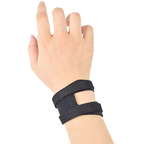 HNZZ 1 par de Deportes Guardia de Pulsera Pulsera Anti-esguince Bracer Yoga Fino Transpirable Baloncesto Fitness Wrist Wraps (Color : Black, Size : M)