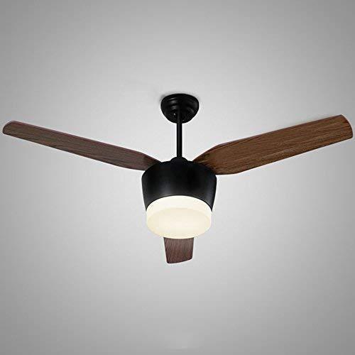 MJYY Luz, lámpara, lámpara de pared, lámpara de pared, lámpara de araña, ventilador de techo, ventilador moderno, luz silenciosa, viento natural, lámpara ce, luz led, madera o hierro, honda de metal