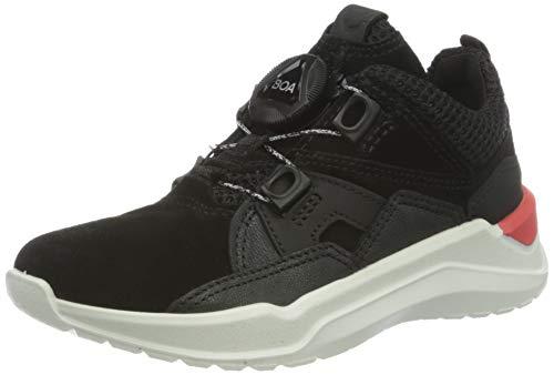 ECCO Intervene, Sneaker a Collo Alto Unisex-Bambini, Nero (Black/Black 51052), 32 EU