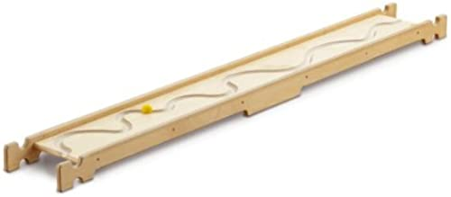 Erzi Balancierbrett Flusslauf, Gleichgewichtsbrett, Fühlbrett, aus Birkensperrholz, Ma 190 x 24 x 8,5cm, natur-gelb