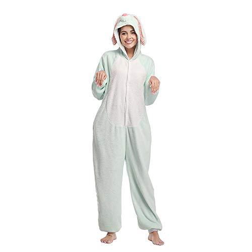 FangYuan Pijamas para Mujer Onesie Pijamas para Adultos Dibujos Animados De Conejo De Orejas Largas Pijamas De Una Pieza Disfraz Ropa De Dormir para Navidad-Marrn_SG