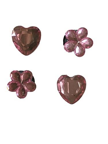 4 abalorios de piedras preciosas rosas pálidas para pulseras Crocs y Jibbitz