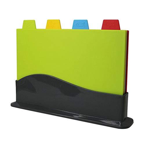 gazechimp Colorido Juego de Tabla de Cortar de Cocina de 4 Tapetes de Colores para El Hogar, Cocina, Bar, Restaurante