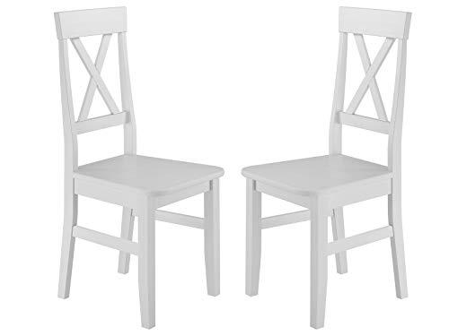 Erst-Holz® Küchenstuhl Doppelpack Massivholzstuhl Esszimmerstuhl Kiefer 2X Stühle 90.71-23-DW
