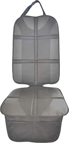 Autositzauflage Grau (Premium Royal-Oxford-Material) zum Schutz vor Kindersitzen Isofix geeignet, Auto-Kindersitzunterlage wasserabweisend, Autositzschutz, Unterlage, Schoner in universeller Passform